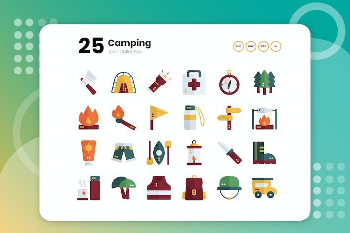 Thumbnail for 25 Camping Flat Icon