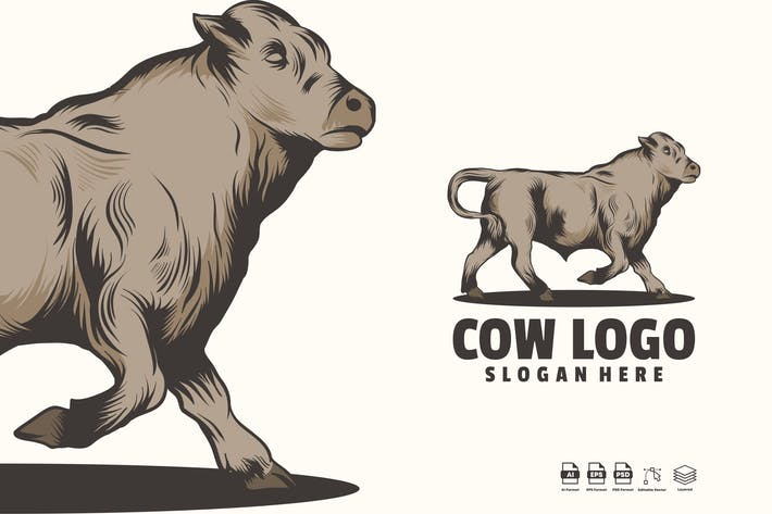 Thumbnail for Cow Logo Template