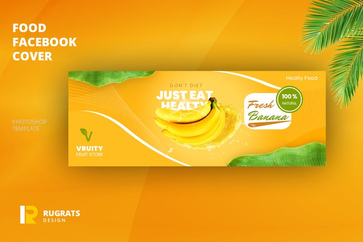 Thumbnail for Modèle de couverture Facebook Fruit R1 Store