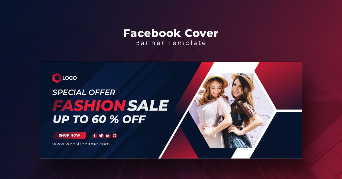 Download Online Fashion Sale Facebook Cover Template by PrexTheme