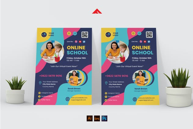 Elementary Online School Flyer