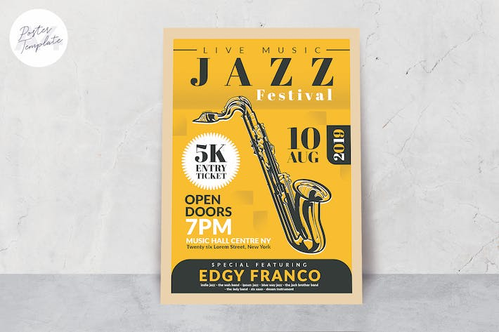 Thumbnail for Jazz Poster Template