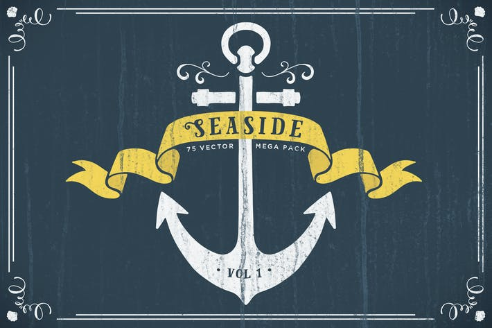 Thumbnail for Seaside Nautical Vector Pack Volume 1