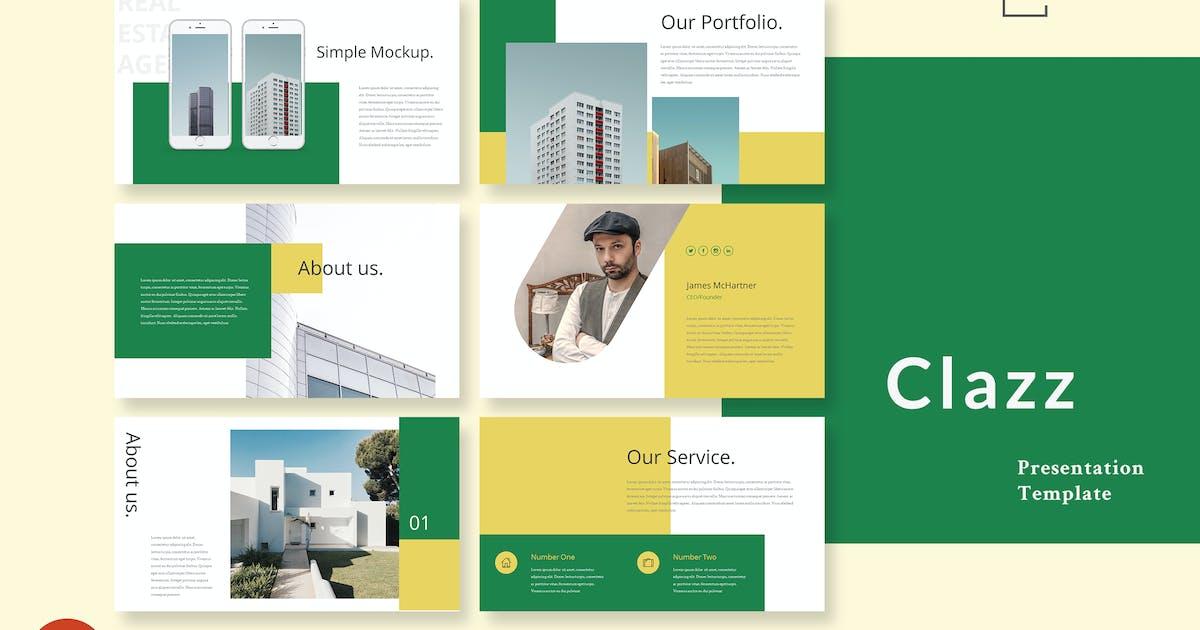 Download Clazz - Real Estate Powerpoint Presentation Slides by alexacrib