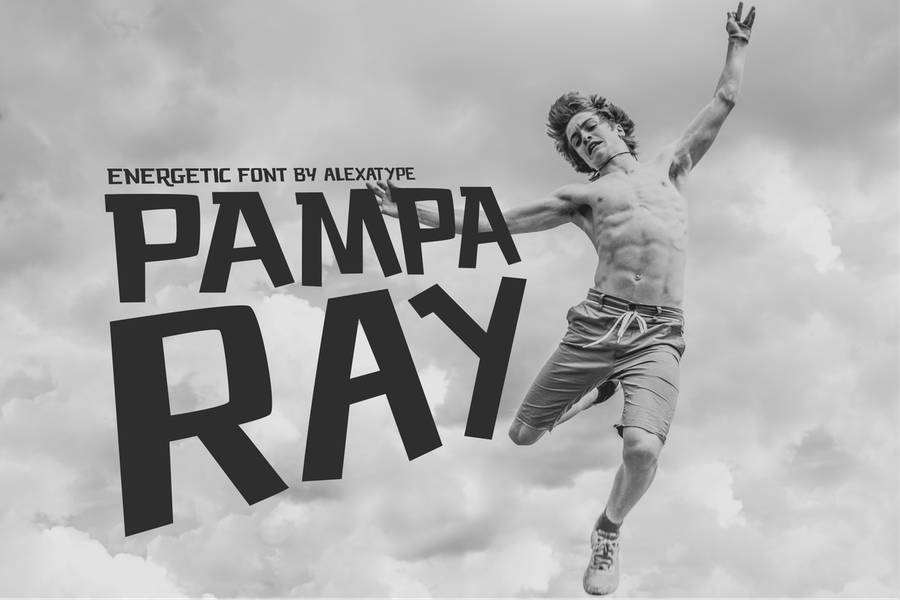 PAMPARAY - Energetic Font