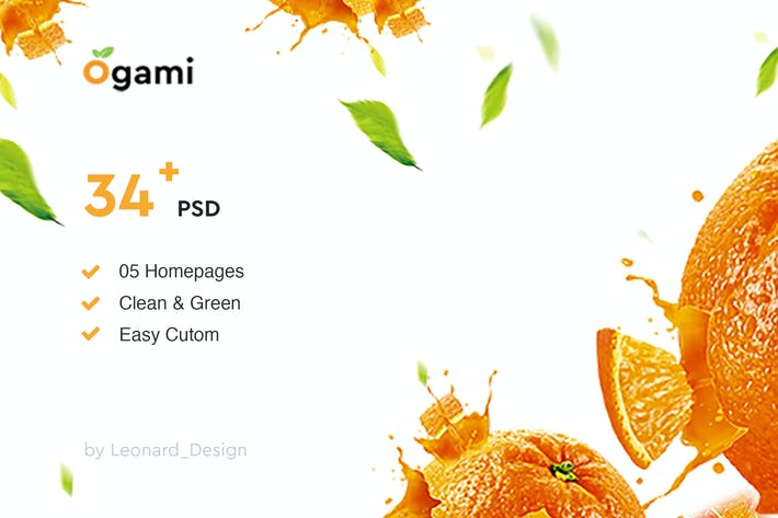 Thumbnail for Ogami - Organic Store & Bakery PSD Templates