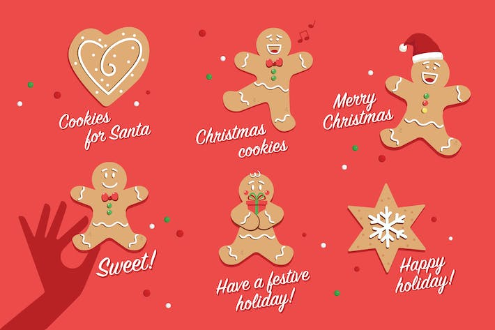 Thumbnail for Christmas Cookie Badges