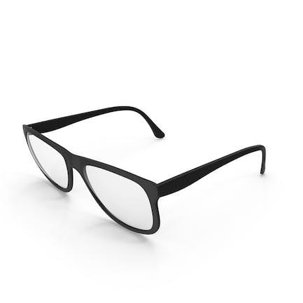 Schwarze gerahmte Brille