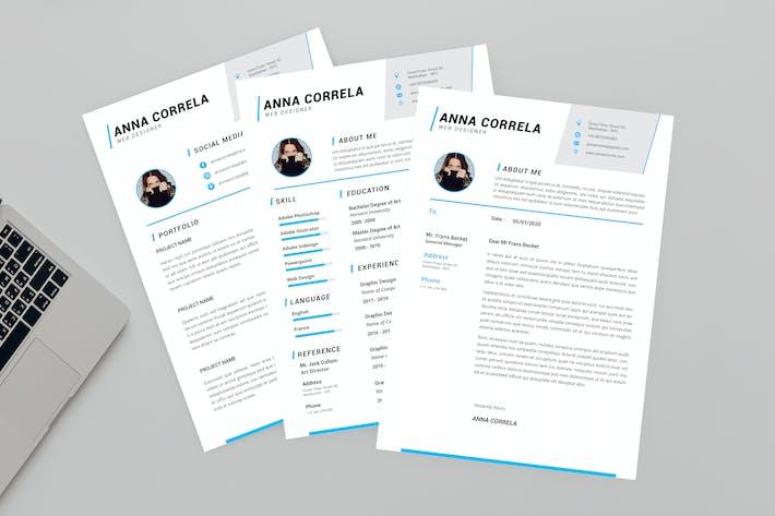 Thumbnail for Anna Web Resume Designer