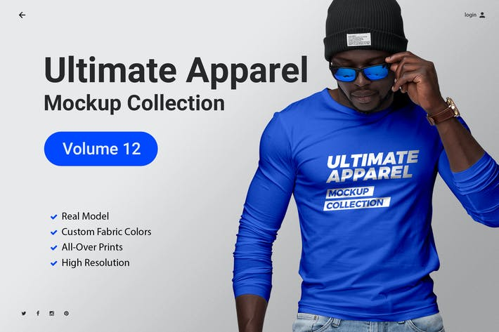 Thumbnail for Ultimate Apparel Mockup Vol. 12