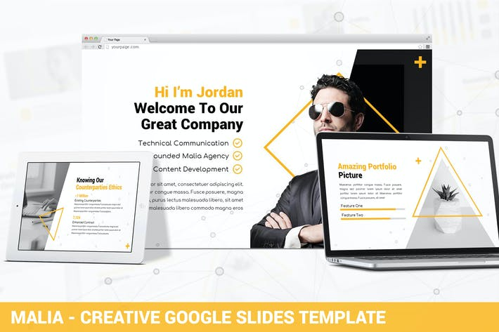 Thumbnail for Malia - Creative Google Slides Template