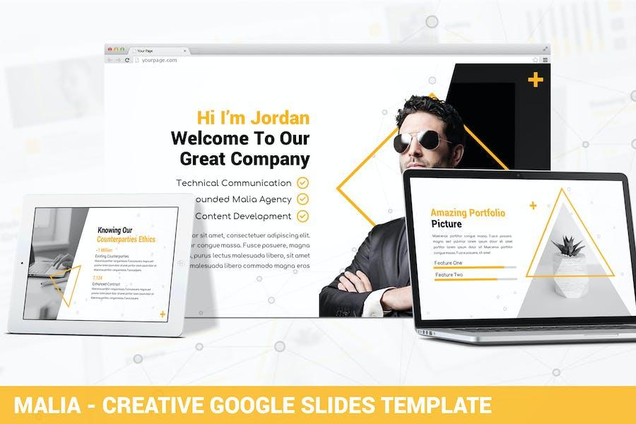 Malia - Creative Google Slides Template