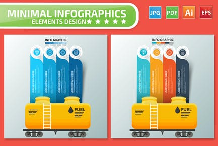 Oil Infographics design