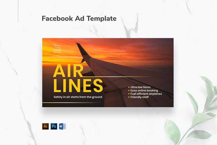 Thumbnail for Aviation Airlines Facebook Ad