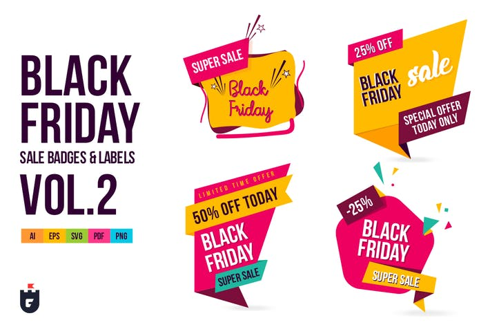 Cover Image For Black Friday Sale Badges and Labels Vol.2