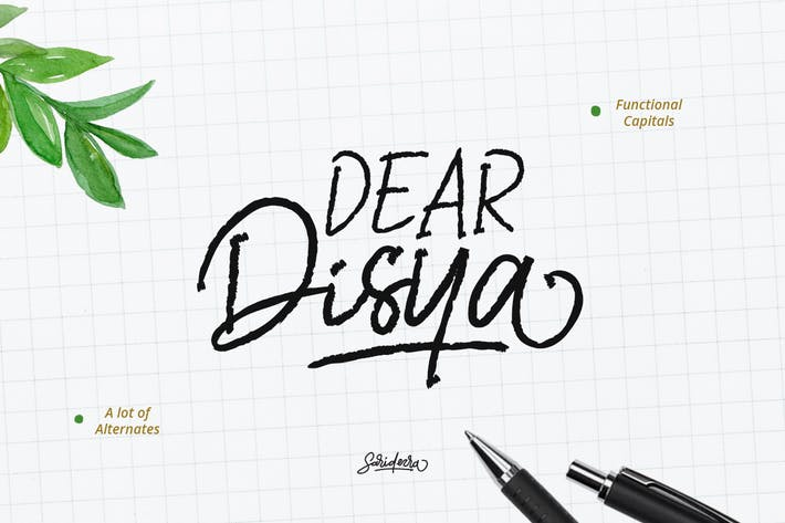 Thumbnail for Dear Disya - Handwritten Script
