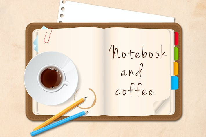Thumbnail for Notebook and Coffee Cup