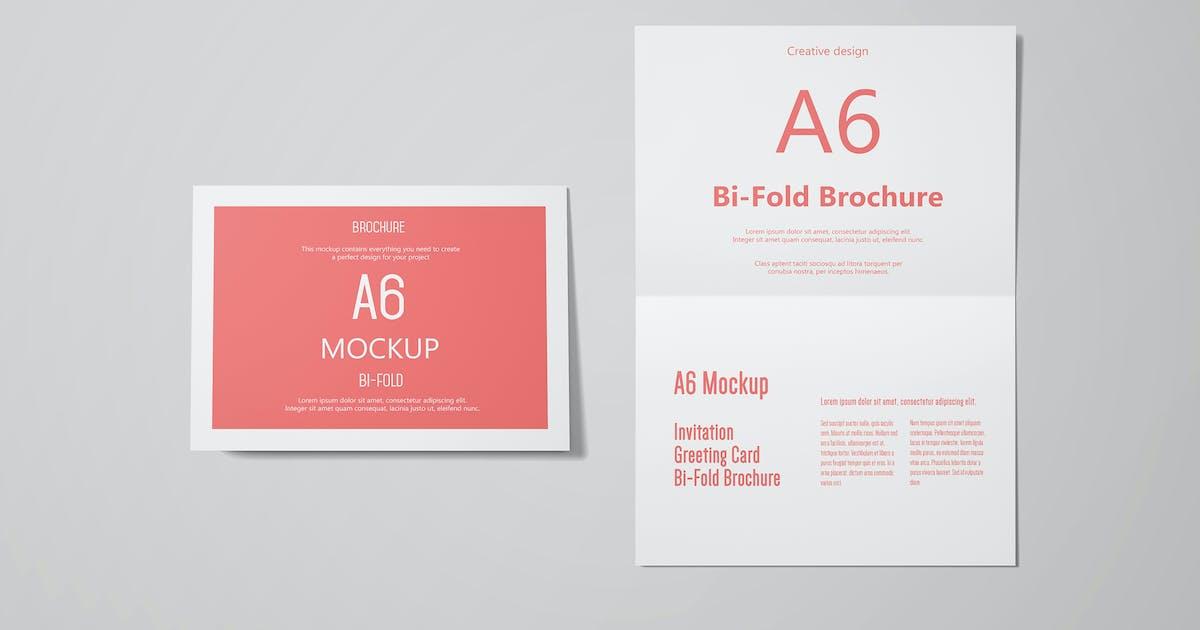 Download A6 Landscape Greeting Card Invitation Mockup Set 3 by professorinc