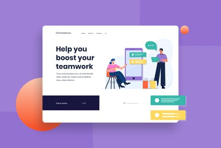 Product Review Landing Page Illustration