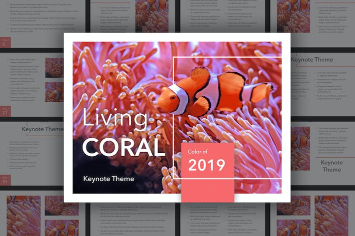 Thumbnail for Living Coral Keynote Theme