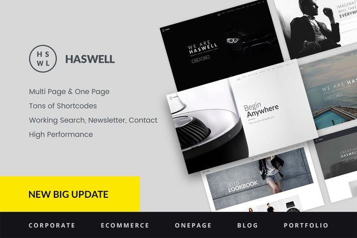 Thumbnail for Haswell - Multipurpose One & Multi Page Template
