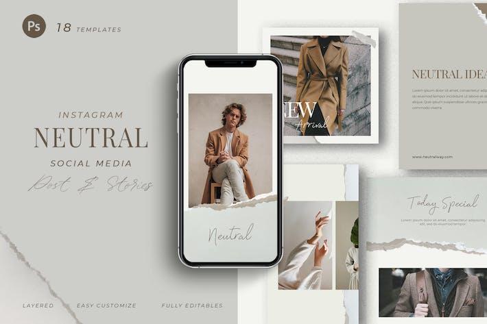 Thumbnail for Neutral Pallete - Instagram Social Media