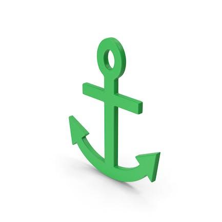 Symbol Anchor Green