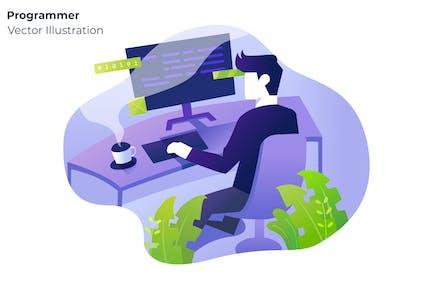 Programmer - Vector Illustration
