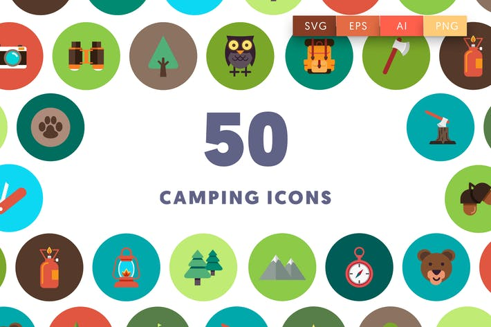 Thumbnail for 50 Camping Icons