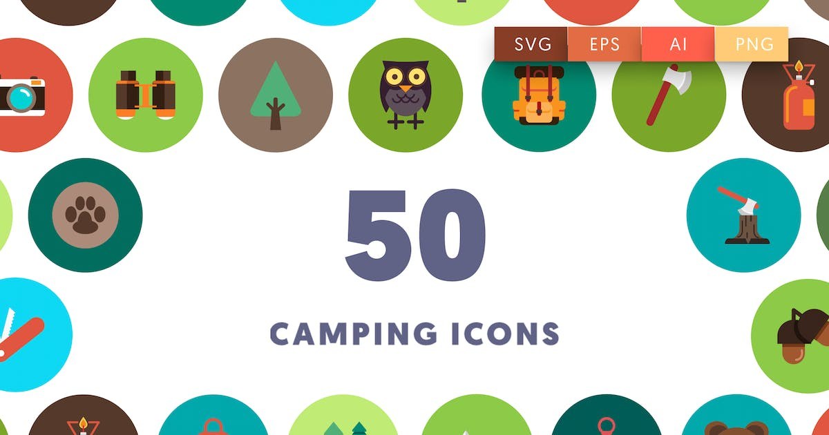 Download 50 Camping Icons by thedighital
