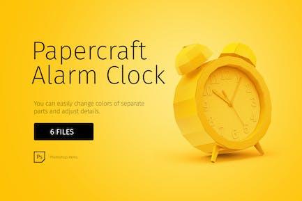 Papercraft alarm clock