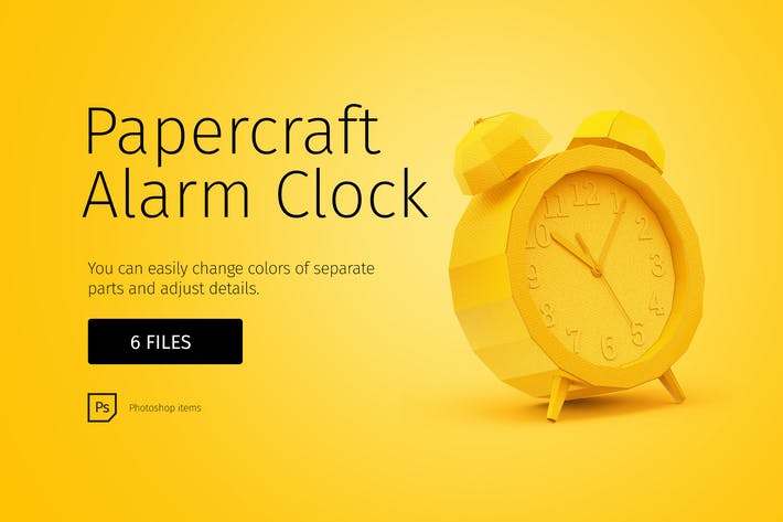 Thumbnail for Papercraft alarm clock