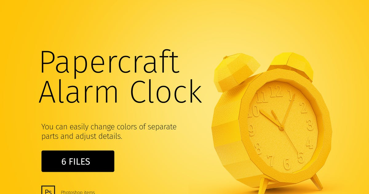 Papercraft alarm clock by TIT0