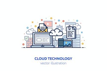 Cloud technology illustration