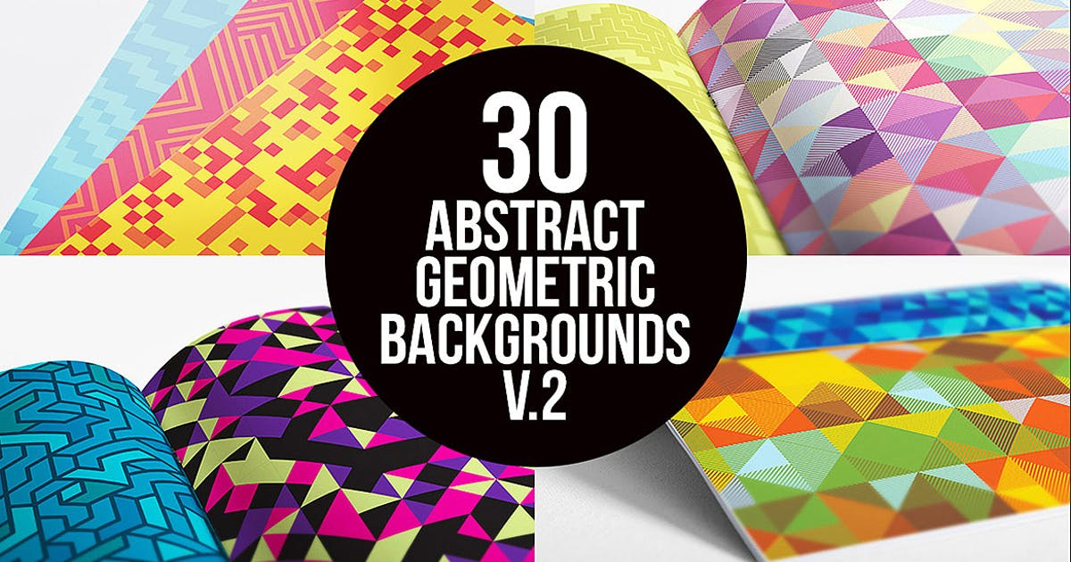 Abstract Geometric Backgrounds v.2 by cruzine