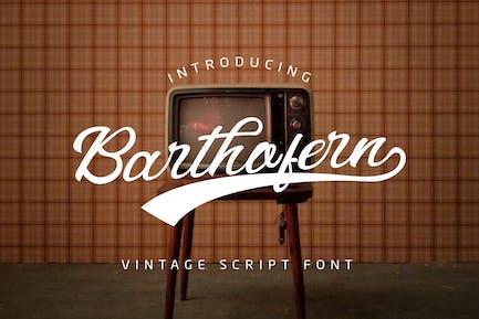 Barthofern - Vintage Script Logo Font