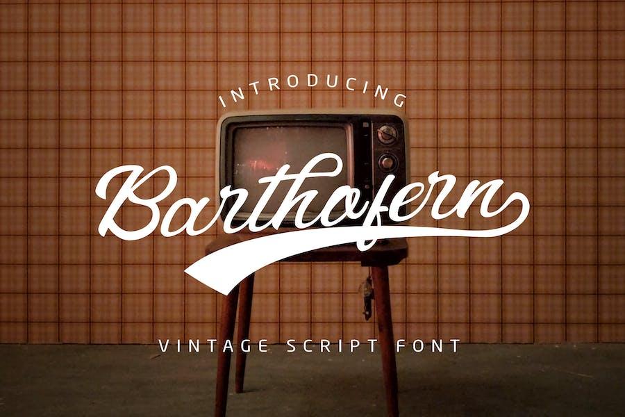 Barthofern - Police de Logo Vintage Script