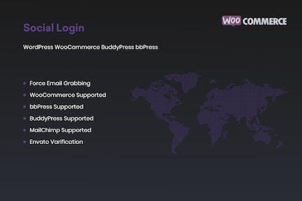 Social Login for WordPress WooCommerce BuddyPress
