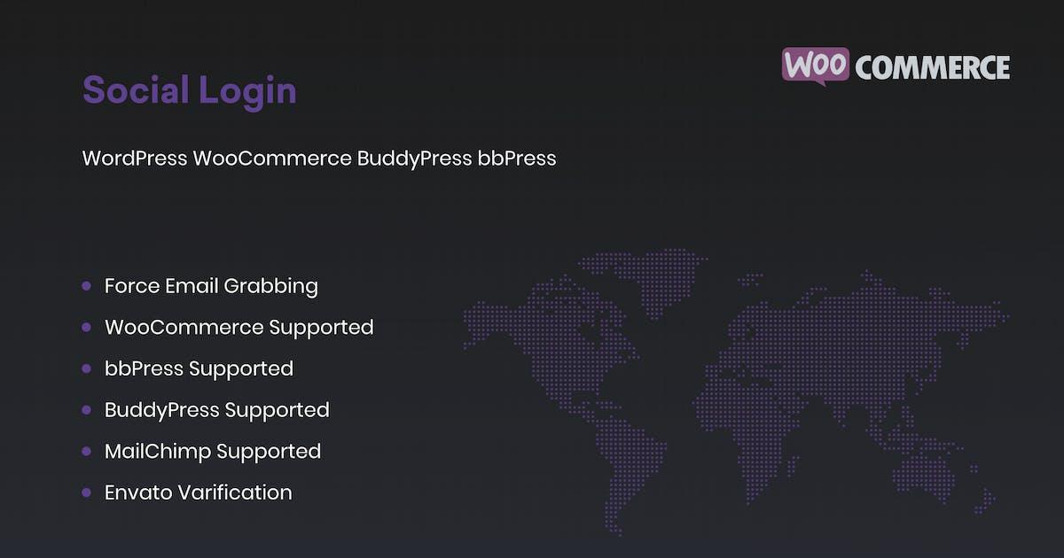 Download Social Login for WordPress WooCommerce BuddyPress by redqteam