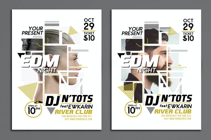 Thumbnail for EDM Night Party Flyer