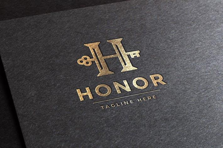 Thumbnail for Honor Letter H Logo Template