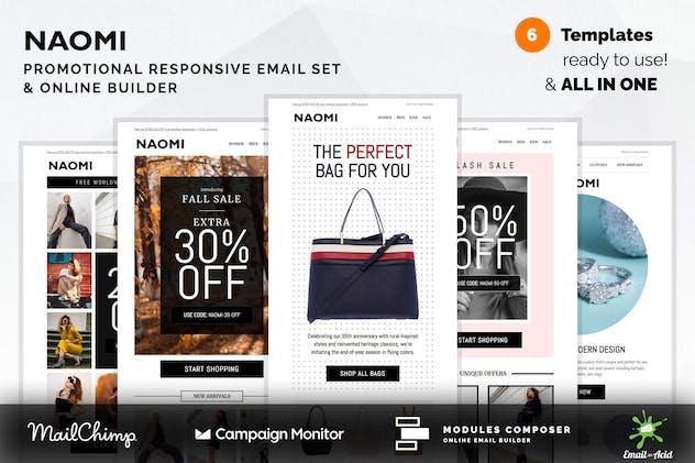 Naomi - Promotional Email Templates Set