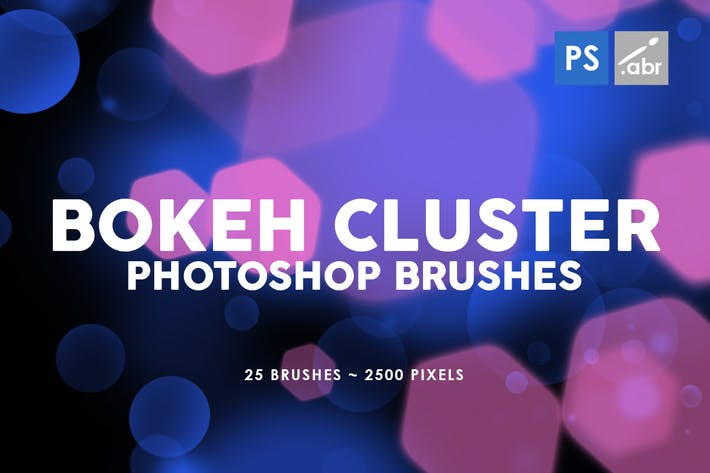 Thumbnail for 25 Bokeh Cluster Photoshop Stamp Brushes
