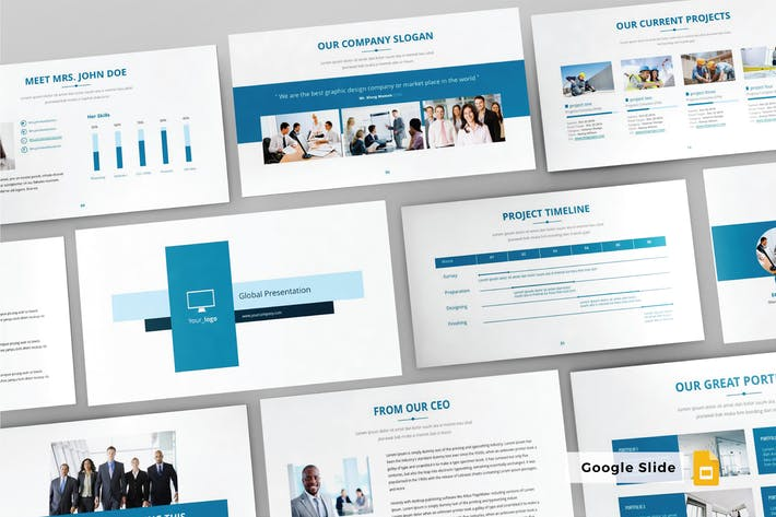 Thumbnail for GLOBAL - Google Slide Template V88