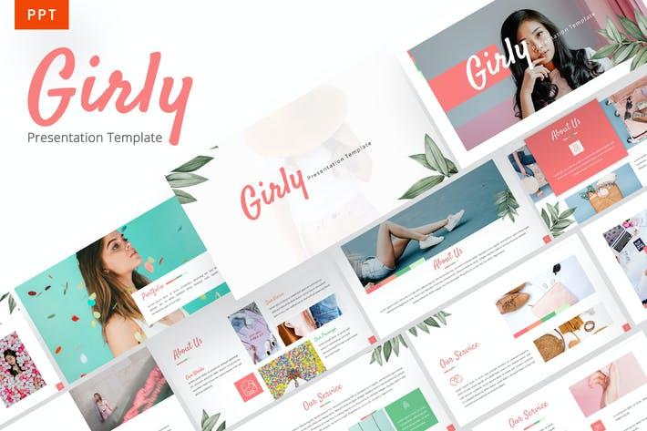 Thumbnail for Girly - Beautiful Powerpoint Template