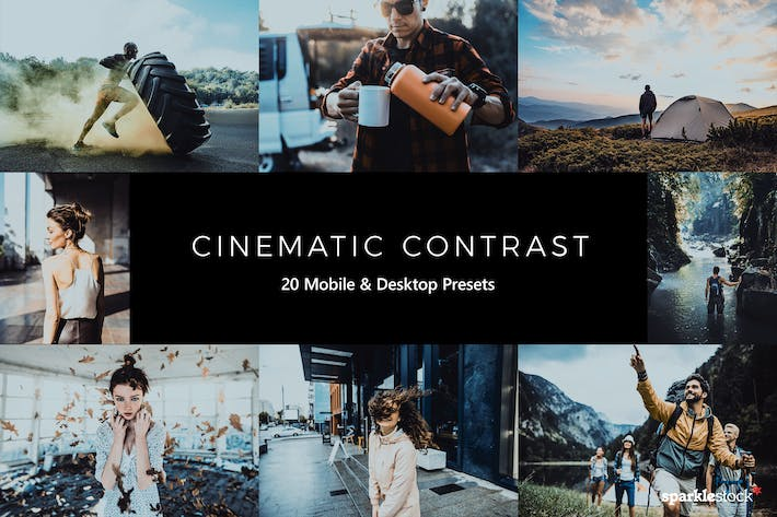 Thumbnail for 20 Cinematic Contrast Lightroom Presets & LUTs
