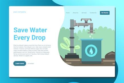 Enregistrer de l'eau - Page d'atterrissage