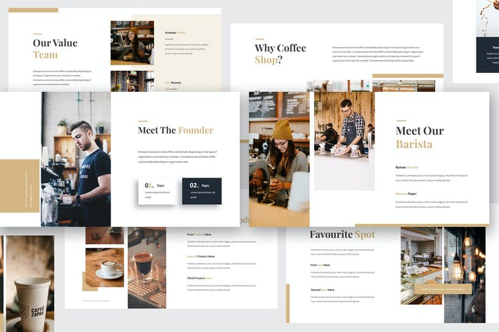 Thumbnail for Coffee Shop Powerpoint Template
