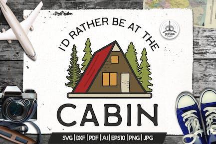 Camp Vector Patch - Cabin Adventure Retro Logo
