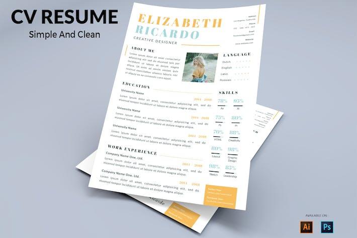 Thumbnail for CV Resume Creative